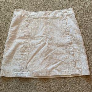 Scalloped Linen Skirt